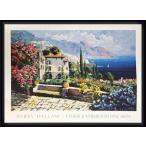 ポスター アート Amalfi Coast(ケリー ハラム) 額装品 ウッドハイグレードフレーム