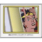 ポスター アート Reflections on Minerva(ロイ リキテンスタイン) 額装品 アルミ製ハイグレードフレーム