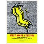 ポスター アート Next Wave Festival(ロイ リキテンスタイン) 額装品 ウッドベーシックフレーム