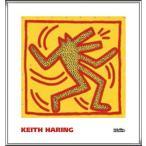 ポスター アート Untitled  1982 (red dog on yellow)(キース ヘリング) 額装品 アルミ製ハイグレードフレーム
