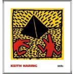 ポスター アート Untitled  1982 (red dogs with pyramid)(キース ヘリング) 額装品 アルミ製ハイグレードフレーム