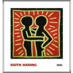 ポスター アート Untitled  1982 (couple in black  red  and green)(キース ヘリング) 額装品 アルミ製ハイグレードフレーム