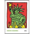 ポスター アート Statue of Liberty  1986(キース ヘリング) 額装品 アルミ製ハイグレードフレーム