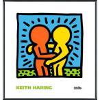 ポスター アート KH05(キース ヘリング) 額装品 アルミ製ベーシックフレーム
