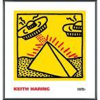 ポスター アート Untitled  1984 (pyramid with UFOs)(キース ヘリング) 額装品 アルミ製ベーシックフレーム