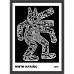 ポスター アート Dog  1985(キース ヘリング) 額装品 ウッドベーシックフレーム
