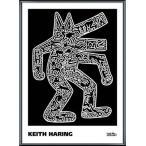 ポスター アート Dog  1985(キース ヘリング) 額装品 アルミ製ベーシックフレーム