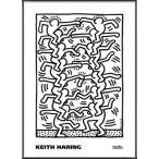 ポスター アート KH17(キース ヘリング) 額装品 アルミ製ベーシックフレーム