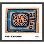 ポスター アート Untitled  1981 (TV)(キース ヘリング) 額装品 ウッドベーシックフレーム