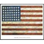 ポスター アート Flag 1954(ジャスパー ジョーンズ) 額装品 アルミ製ハイグレードフレーム