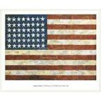 ポスター アート Flag 1954(ジャスパー ジョーンズ) 額装品 ウッドベーシックフレーム