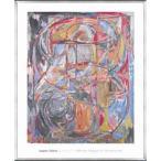 ポスター アート Untitled 1978(ジャスパー ジョーンズ) 額装品 アルミ製ベーシックフレーム