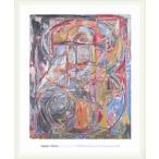 ポスター アート Untitled 1978(ジャスパー ジョーンズ) 額装品 ウッドベーシックフレーム