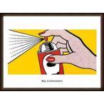 ポスター アート Spray 1952(ロイ リキテンスタイン) 額装品 ウッドハイグレードフレーム