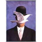 ポスター アート 山高帽の男(ルネ マグリット) 額装品 アルミ製ベーシックフレーム