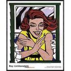 ポスター アート 窓辺の少女(ロイ リキテンスタイン) 額装品 アルミ製ハイグレードフレーム