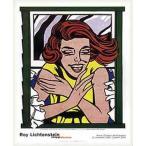 ポスター アート 窓辺の少女(ロイ リキテンスタイン) 額装品 ウッドベーシックフレーム
