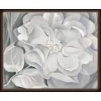The White Calico Flower  1931(ジョージア オキーフ) 額装品 ウッドハイグレードフレーム