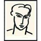 GRANDE TETE DE KATIA  1950 限定1000枚(アンリ マティス) 額装品 アルミ製ハイグレードフレーム