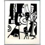 ポスター アート Jazz(レジェ) 額装品 アルミ製ベーシックフレーム