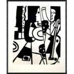 ポスター アート Jazz(レジェ) 額装品 アルミ製ハイグレードフレーム
