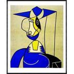 ポスター アート Femme Au Chapeau(ロイ リキテンスタイン) 額装品 アルミ製ハイグレードフレーム