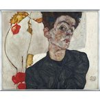Portrait with Physalis 1912(エゴン シーレ) 額装品 アルミ製ベーシックフレーム