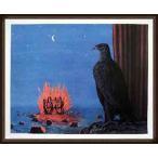 ポスター アート 夜のガスパール(ルネ マグリット) 額装品 ウッドハイグレードフレーム