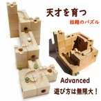天才脳を育てた藤●四段のおもちゃ WoodEncube社の立体パズル(Advanced)60キューブ ビー玉10個 ビー玉転がし積み木