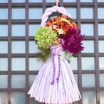 アートフラワー   ギフト リース  お正月 飾り しめ縄 ラベンダー