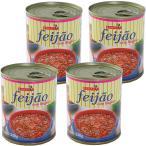 フェジョンの缶詰 4缶セット リングイッサ ソーセージ入り 330g feijao com linguica BONAPETIT
