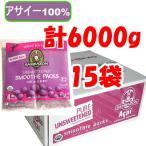 冷冻食品 - アサイーピューレ 無糖 冷凍 100g×4パック×15袋 サンバゾン