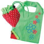 イチゴエコバッグ(グリーン)  くだもの/果物/かわいい/折りたたみ/折り畳み/ショッピングバッグ/買い物袋【ギフト・プレゼント・粗品・景品】