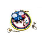 エアコン ガスチャージキット マニホールドゲージ 対応冷媒 R134a/R22/R410a/R404a 取扱説明書 専用ケース付き (送料無料)