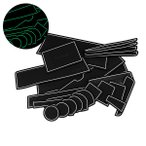 エブリィ DA17W/Vドア ポケット マット/シート 滑り止め (新型ラバーマット) 夜光色 23P 車種専用設計