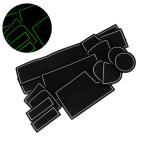 フリードGB3/GB4、フリードハイブリッドGP3ドア ポケット マット/シート 滑り止め (新型ラバーマット) 夜光色 14P 車種専用設計