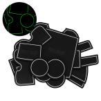 トヨタ/ランドクルーザープラド GRJ15#/TRJ150 ドア ポケット マット/シート 滑り止め (新型ラバーマット) 夜光色 14P 車種専用設計