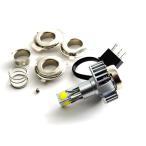 バイク用 LEDヘッドライト 3面発光 18W/1800LM 6000Kホワイト PH7 PH8 H4 Hi/Lo切替
