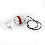ショッピングLED 汎用 LED ヘッドライト/フォグランプ CREE製 U3-LED 車 バイク ストロボ LEDライト レッドイカリング