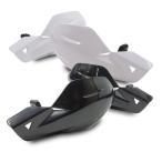 汎用 バイク ナックルガード/ハンドルカバー 22.2mm対応 ABS樹脂 ホワイト/ブラック