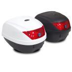 バイク リアボックス (28L) カギ&アタッチメント付き 2色 トップケース リアボックス/大容量