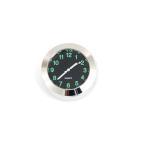 バイク用 時計 アナログ表示 シルバー アナログクロック/汎用