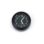 バイク用 時計アナログ表示 ブラック アナログクロック/汎用