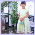 子供ドレス 【送料無料】  デージ 上品 刺繍 フォーマルワンピース 140cm (100cm?140まであります)