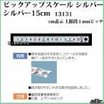 【シンワ測定】ピックアップスケールシルバー15cm 13131                          (直尺,定規,)