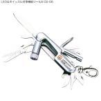Yahoo!B・Bセレクト【中林製作所】LED&ホイッスル付多機能ツールS CS-05 ホイッスル ストラップ 笛 サバイバルナイフ マルチツールナイフ