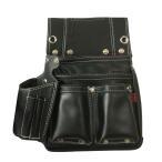 送料無料 極匠 GL-03B 黒牛革釘袋(墨壺差し付)