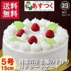 生クリームケーキ デコレーションケーキ ノーマル5号 15cm/プレート無しです。名入れ希望は他の商品を選びなおして下さい