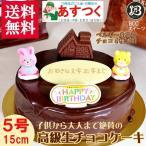 誕生日ケーキ バースデーケーキ 5号 ハウス飾り 2匹 B 生チョコ ザッハトルテ