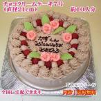 誕生日ケーキ7号 No,161/オーダーケーキ7号/バースデーケーキ/チョコ味生クリームケーキ
